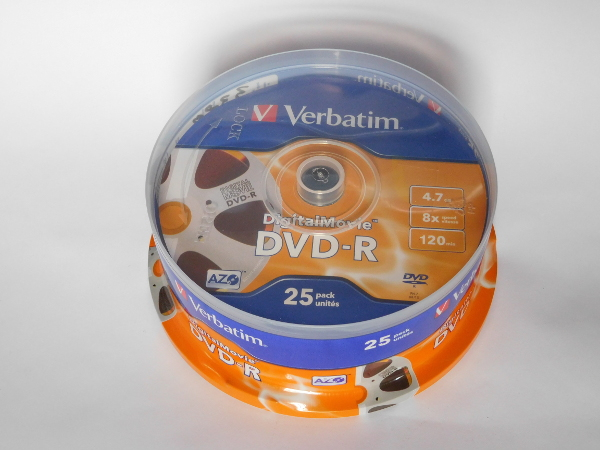 DVD-R Verbatim 8x 4,75GB Digital Movie 25pack Cake