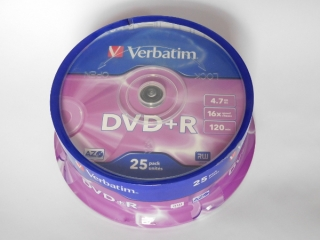 DVD+R Verbatim 16x 4,75GB G.Use 25pack Cake