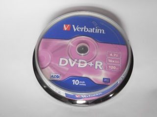 DVD+R Verbatim 16x 4,75GB G.Use 10pack Cake