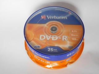 DVD-R Verbatim 16x 4,75GB G.Use 25pack Cake