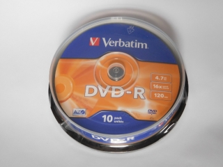 DVD-R Verbatim 16x 4,75GB G.Use 10pack Cake