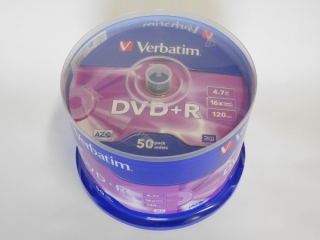 DVD+R Verbatim 16x 4,75GB G.Use 50pack Cake