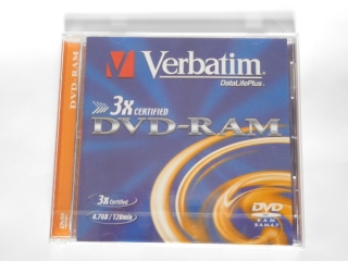 DVD-RAM Verbatim 3x 4,7GB jewel box