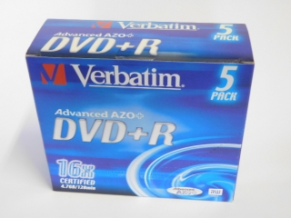 DVD+R Verbatim 16x 4,75GB G.Use 5pack JC