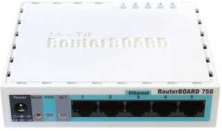 Mikrotik RB750 Box, 5x 10/100 LAN port, OS L4, 32 MB SDRAM